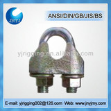 16mm carbon steel cables clamp DIN1142 zinc plated