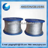 6x37 16mm ungalvanized steel wire rope