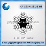 galvanized steel Fiber core 6x16 wire rope