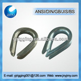commercial type carbon steel electrical rope thimble