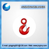 Drop forged U.S type 320 large steel lifting eye hook
