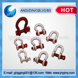 hot dip galvanized U.S type bolt and nut dee shackles