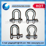 screw pin anchor and chain trawling bow shackle