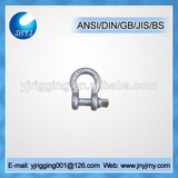 high tensile forged bolt type color screw pin bow shackle