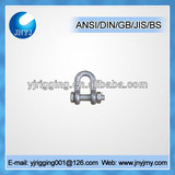 High tensile DEE shape screw pin shackle G2150 with safety pin and nut
