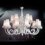 Post-modern and elegant design snow-white plume pendant lamp