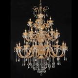 European luxury crystal chandelier lamp ,Egypt hotel penthouse floor villa living room pendant light
