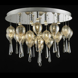 Creative special glass peaches living room,hotel ceiling lamp
