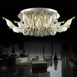 Creative Swan fashion living room lamp ,genuine crystal ceiling lamp