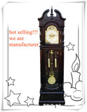 Unique round solid wood grandfather clock GF76