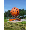 Colour sphere metal sculpture