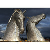 Horse head stainless steel sculpture