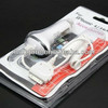 drumstick car carger for iphone 4 4s with cable black/white color
