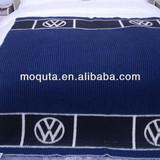 Volkswagen soft woven 100% wool overlock jacquard blanket