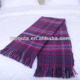 Checked super soft wool throw plaid blanket