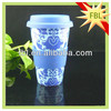 Blue ceramic mug with silicon lid