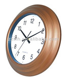 latest luminuou home decorative plastic wall clock