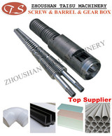 PVC plastic product special screw and barrel for pvc extruder machine