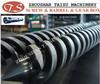 bimetallic conical twin screw barrel for plastic extruder machine