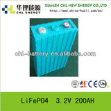 Bestsellers Rechargeable LiFePO4 lithium ion Battery Cell 200AH