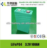 Rechargeable LFP 3.2V 100AH lithium battery