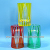 hot selling shot glass carved colored shot glass
