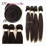 Natural color top quality virgin expression hair extensions