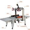 FXJ5050B Semi-Automatic Carton Box Sealing Machine/ Carton Sealer (side belt conveyor) (chinacoal02)