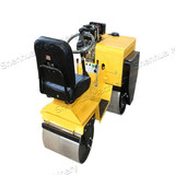 Hydro Static drive SH-70C Steering Ride on Double Cylinder Road Roller