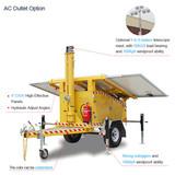 .Hot Selling MOT-400-A Noiseless Night Scan LED Solar Mobile Light Tower