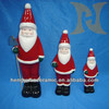 Christmas, ceramic crafts, Santa Claus and a shovel,Household illuminative small sculptures