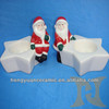 Christmas home decoration ceramic arts and crafts candle holders