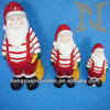 Ceramic crafts Christmas decorations Santa Claus carrying gift bags