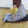 Triangle shape outdoor canvas bean bag lounge chair