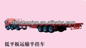 Haojun 3 axle 50T low platform semi trailer