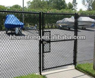 galvanized chain link fence gates