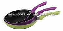 Aluminium non stick dry fry pan