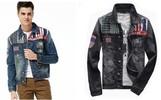 Autumn Fashion Man Union Jack Printed Denim Jacket JT-S13112304