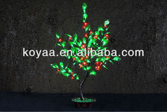 0.9m 2013 NEW Artificial bonsai tree light PJ-128 Red pvc flower green leaves