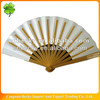 Customised foldable bamboo promotional hand fan for advertisement