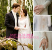 Hot selling Twilight Breaking Dawn Bella's Wedding Dress Elegant V Neck Long Sleeve Illusion Back Wedding Dess with Train