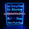 Super Bright Flashing Ad Sign Clear Glass Magnetic Writing Board