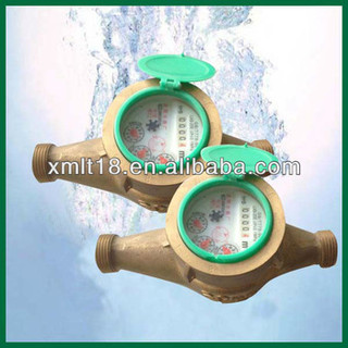 Dry-dail magnetic water flow meter