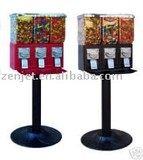 CANDY/GUMBALL TRIPLE CANISTER VENDING MACHINE