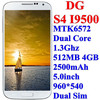 DG S4 I9500 mobile phone 512MB 4GB MTK6572 Dual core 1.3Ghz