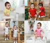 Summer Baby Short Sleeve Polo Romper Infant Bodysuit