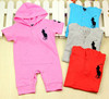 Baby Short Sleeve Polo Romper Infant One Piece Clothes