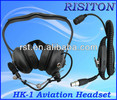 HK-1 Headset Of Walkie Talkie two way radio Aviation headset