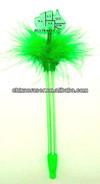 novelty christmas promotional gift light pen led feather pen