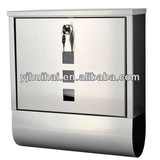 Stainless Steel Letter Classic Mail Box Lockable with Newspaper Slot / convenient Newspaper Compartment